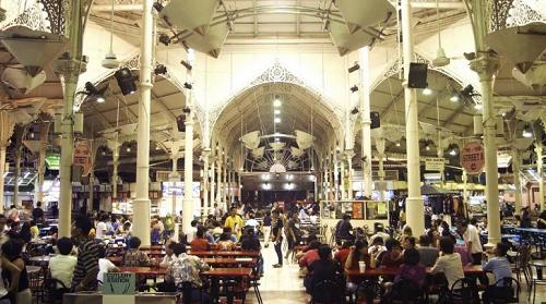 Khám phá ẩm thực Lau Pa Sat bằng vé máy bay đi Singapore giá rẻ