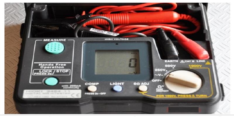 Thiết bị dùng đo điện trở cách điện