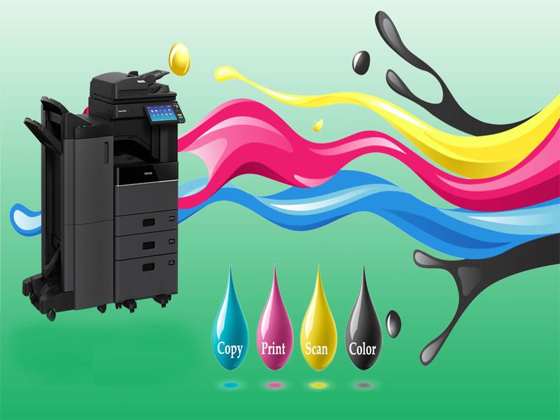 Khi máy photocopy hết mực nên đổ mực hay thay mới?